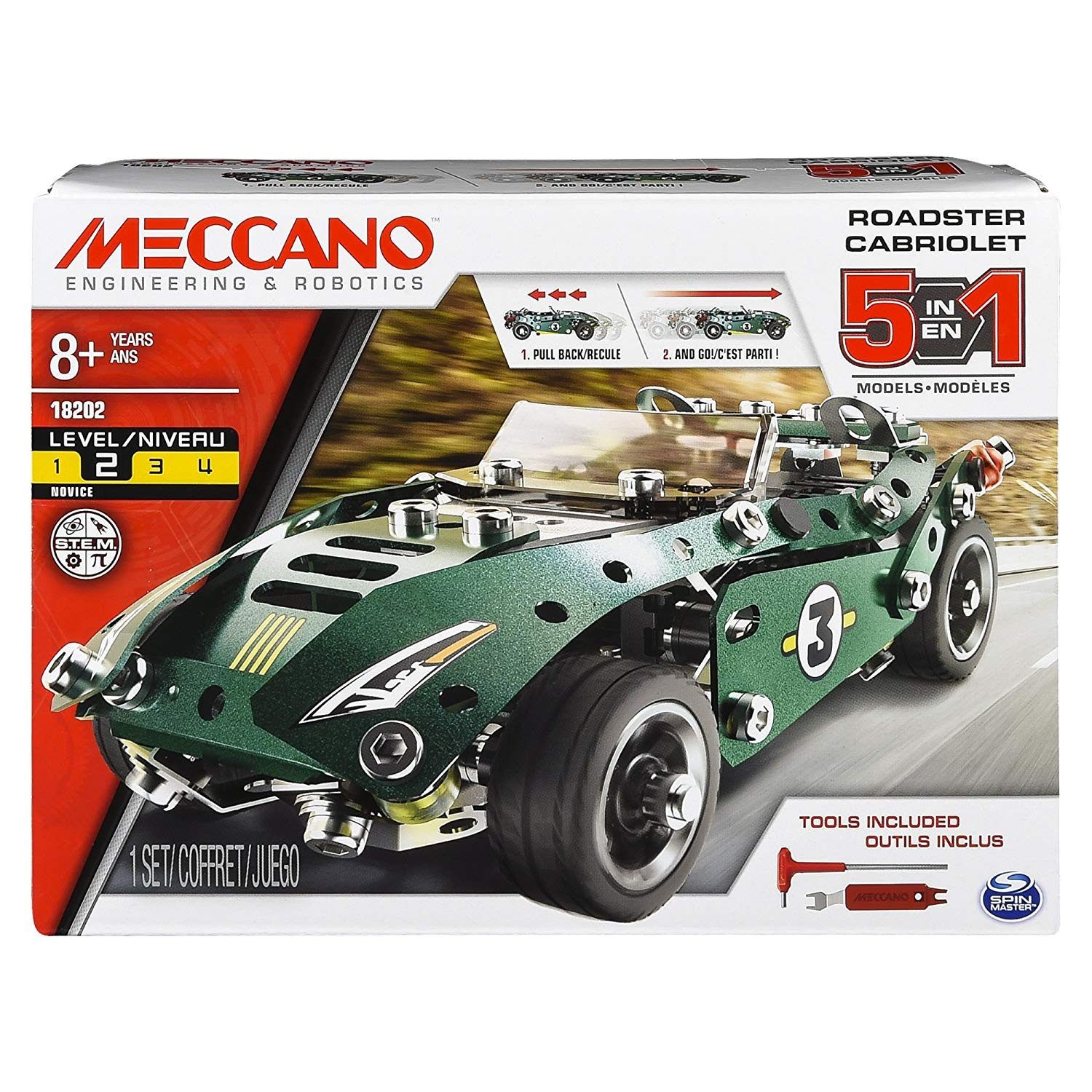 Meccano Retro Friction Convertible  5 Cars To Be Built