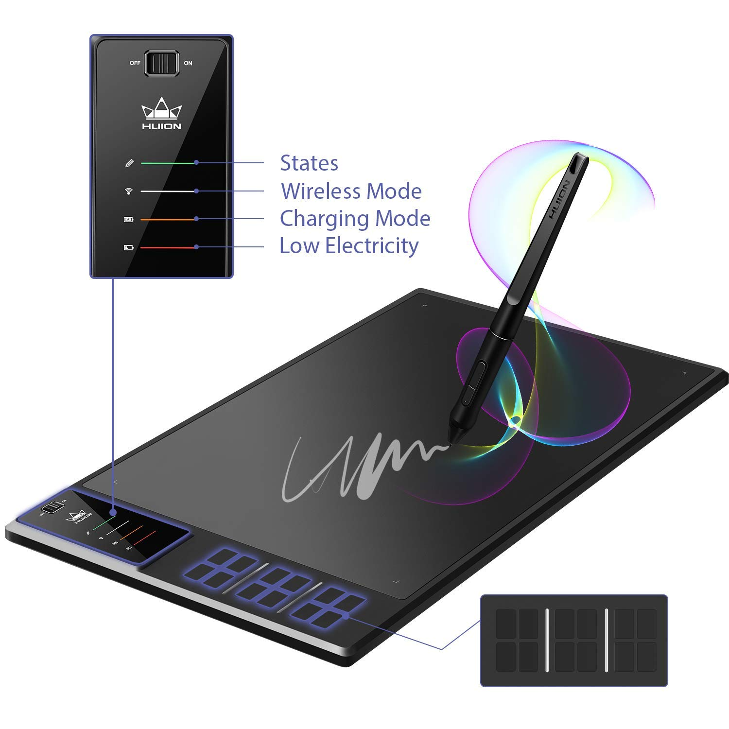 HUION WH1409 V2 Graphic Tablet
