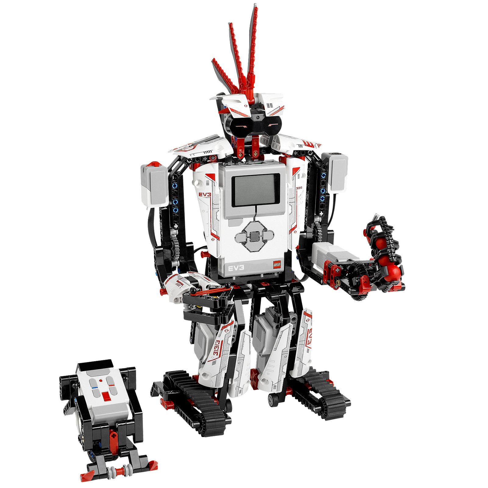The lithium ion EV3 Rechargeable DC Battery is designed for use with the EV3 Intelligent Brick and features a capacity of mAh. It provides longer run time than AA batteries and can be charged without taking the model apart.