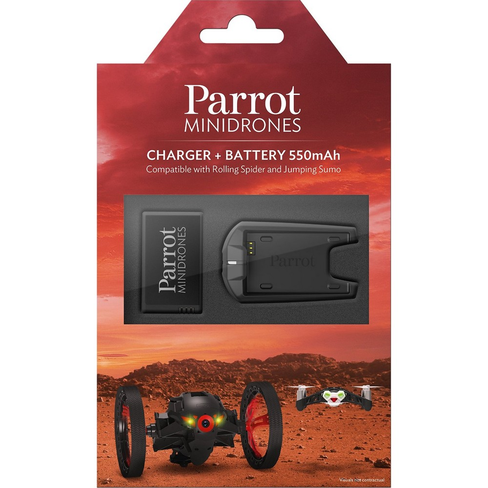 Buy Parrot 550 Mah Battery And Charger For Mini Drones On Minidrones Rolling Spiders White