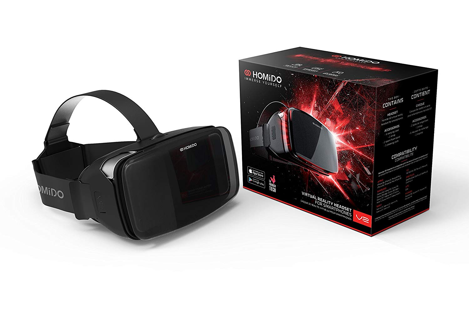Homido Immerse Yourself Virtual Reality Headset for Smartphones V2