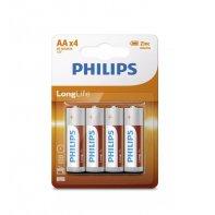 Piles AA Longlife Philips Lot De 4