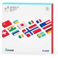 Pixio Flags Jeu De Construction Magnétique