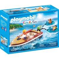 Playmobil 70091 Bateau Avec Bouées Et Vacanciers