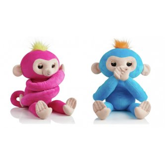 Finglerlings Peluche Singe Hugs rose