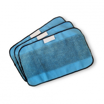 Pack de 3 lingettes microfibres humides