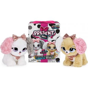 Present Pets Fancy Pups interactive plush toy