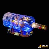 Lumières Pour LEGO Bateau Bouteille 21313