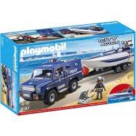 Playmobil 5187 Police Van And Patrol Boat