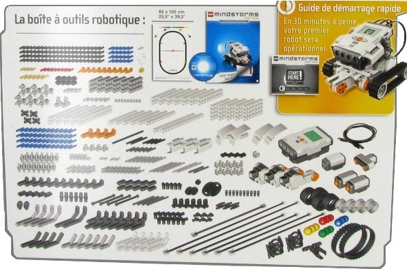 robot LEGO Mindstorms NXT - Contenu du kit robotique