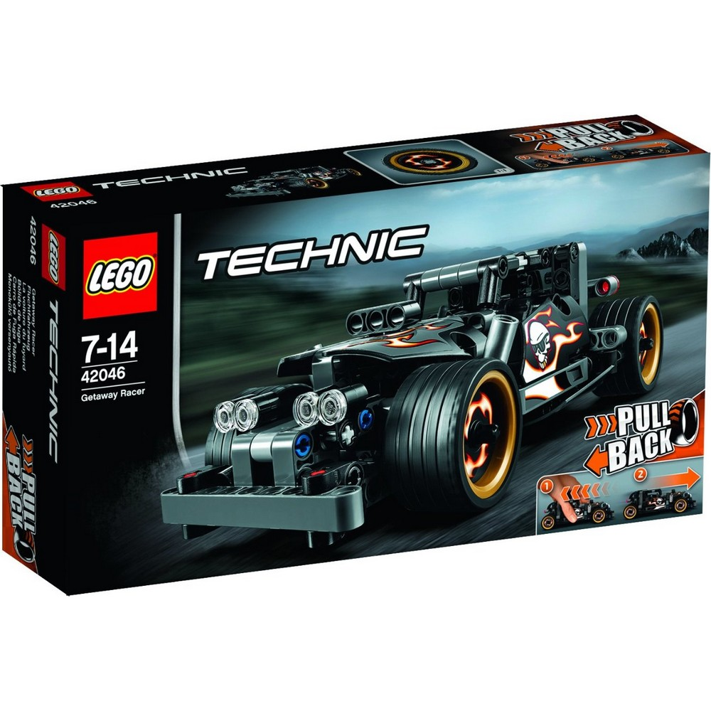acheter un la voiture du fuyard lego technic 42046 sur robot advance. Black Bedroom Furniture Sets. Home Design Ideas