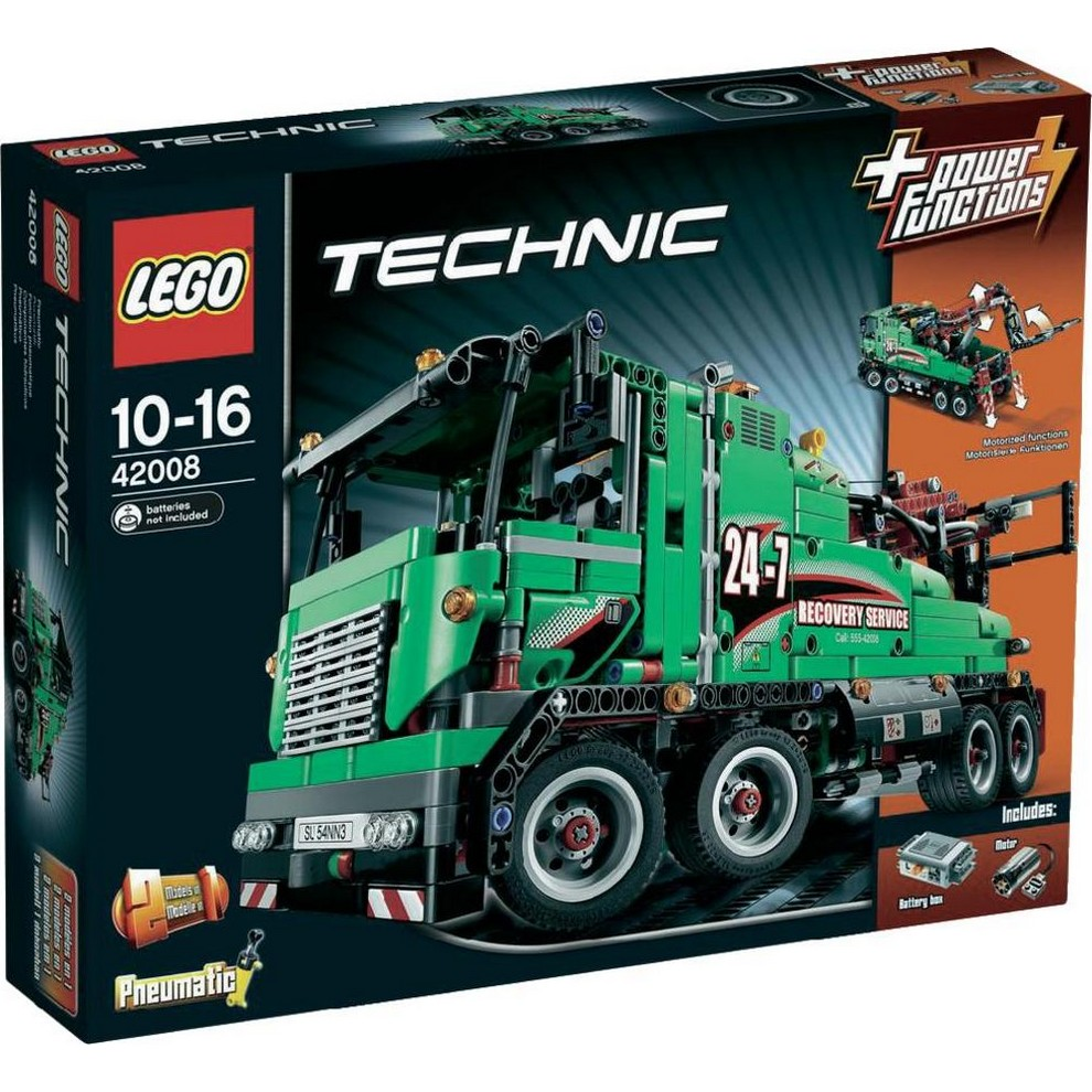 acheter un le camion de service lego technic 42008 sur robot advance. Black Bedroom Furniture Sets. Home Design Ideas