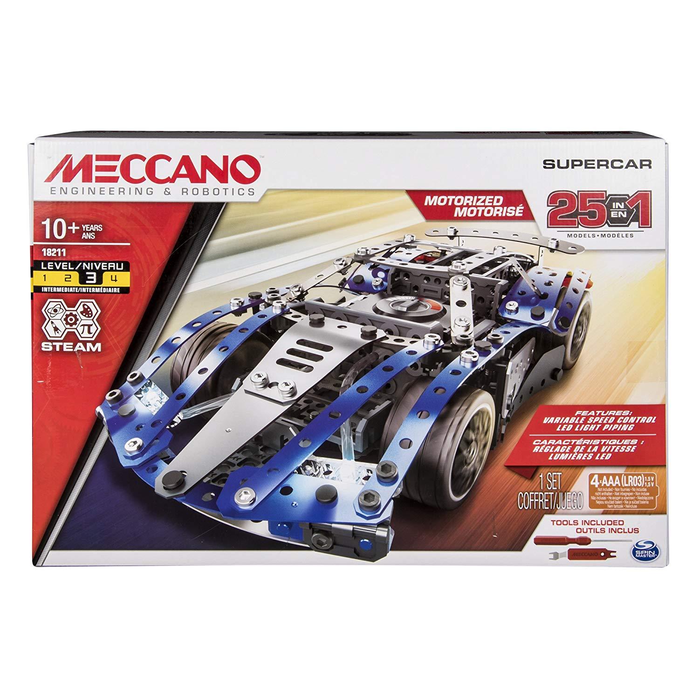 25 Meccano Meccano 25 Supercar Modèles Motorisés Supercar X08knwPO