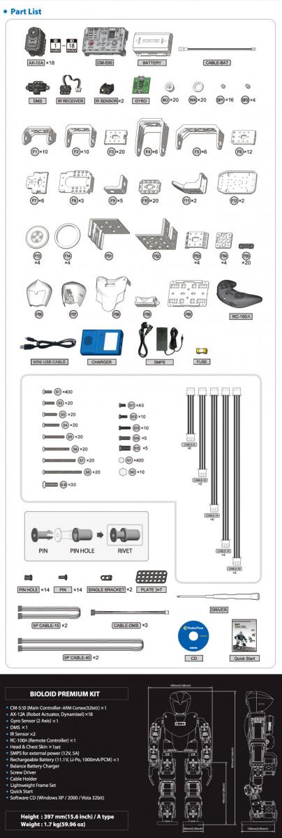 Bioloid Premium Parts