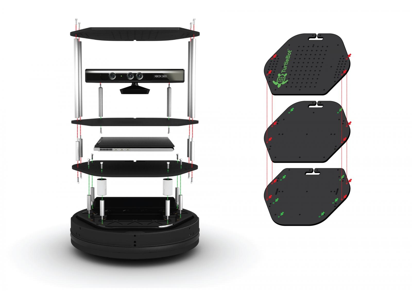 TurtleBot 2 (complete & assembly) - TURTLEBOT