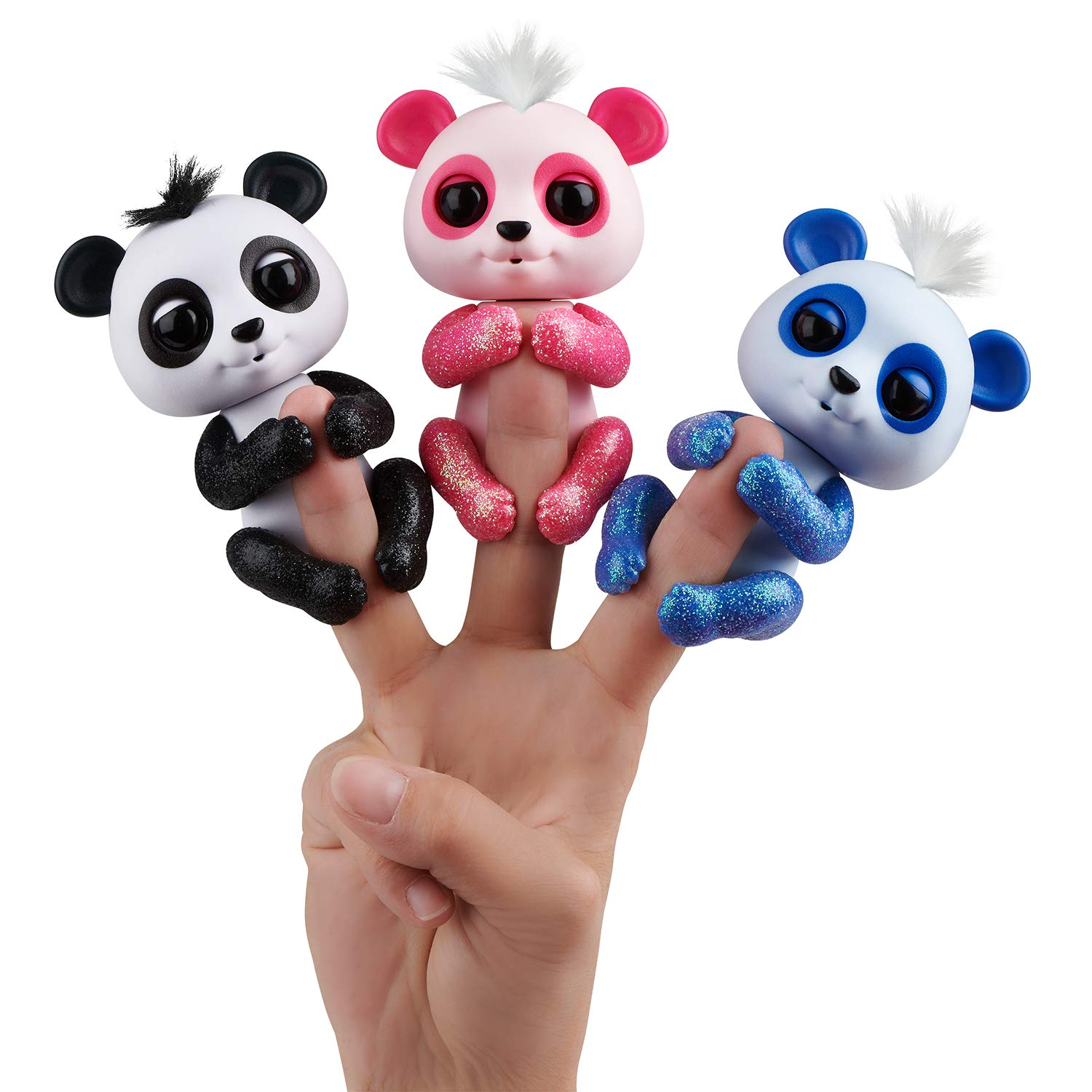 Panda Fingerlings WowWee Drew, Polly and Archie