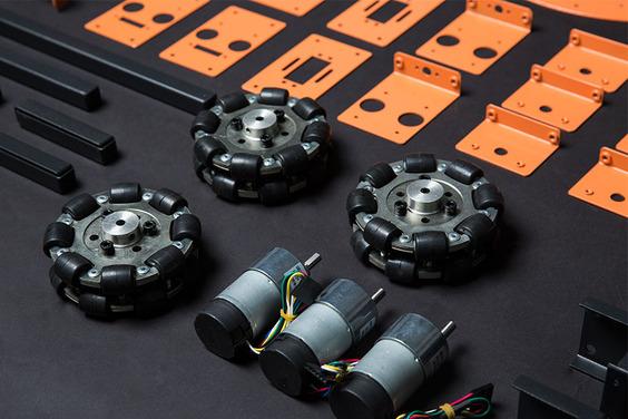 HCR plate-forme robot mobile Omni Wheels DFRobot
