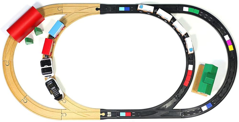 Adaptateur Intelino Rails en bois