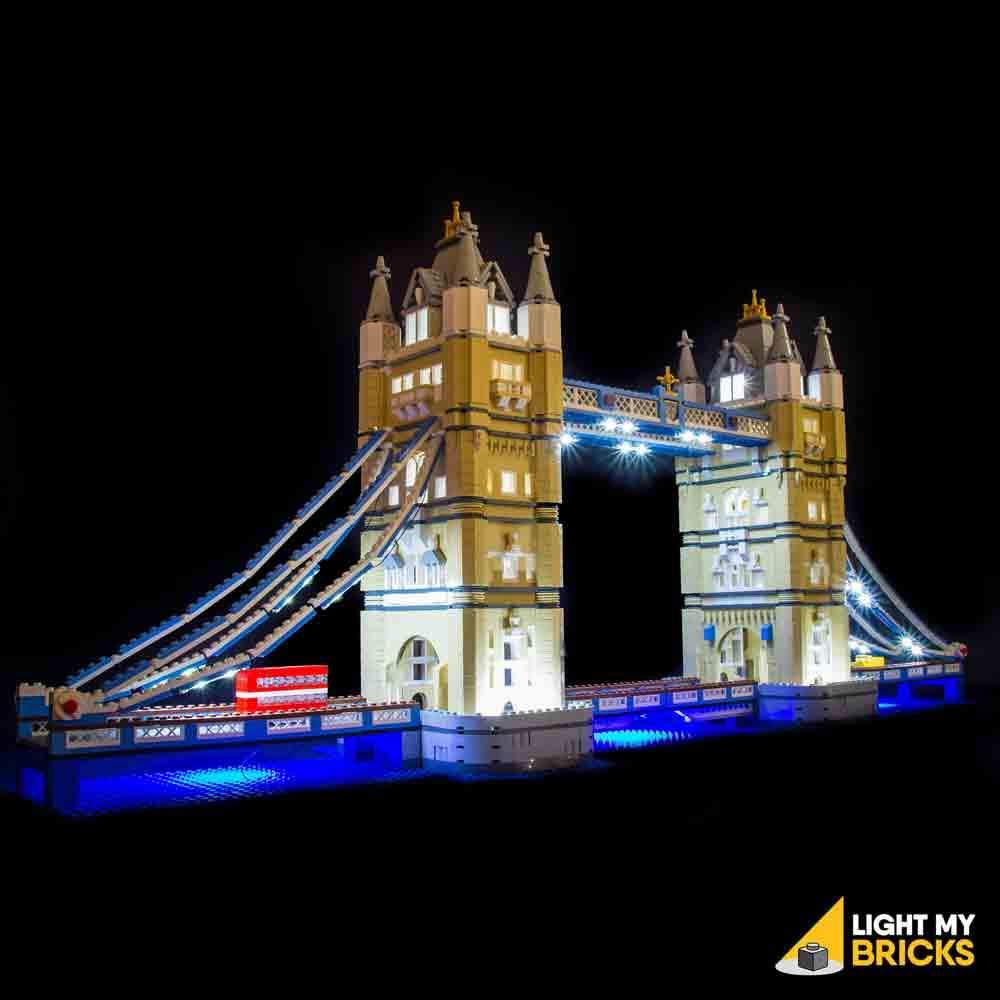 LEGO Tower bridge 10214 kit lumière