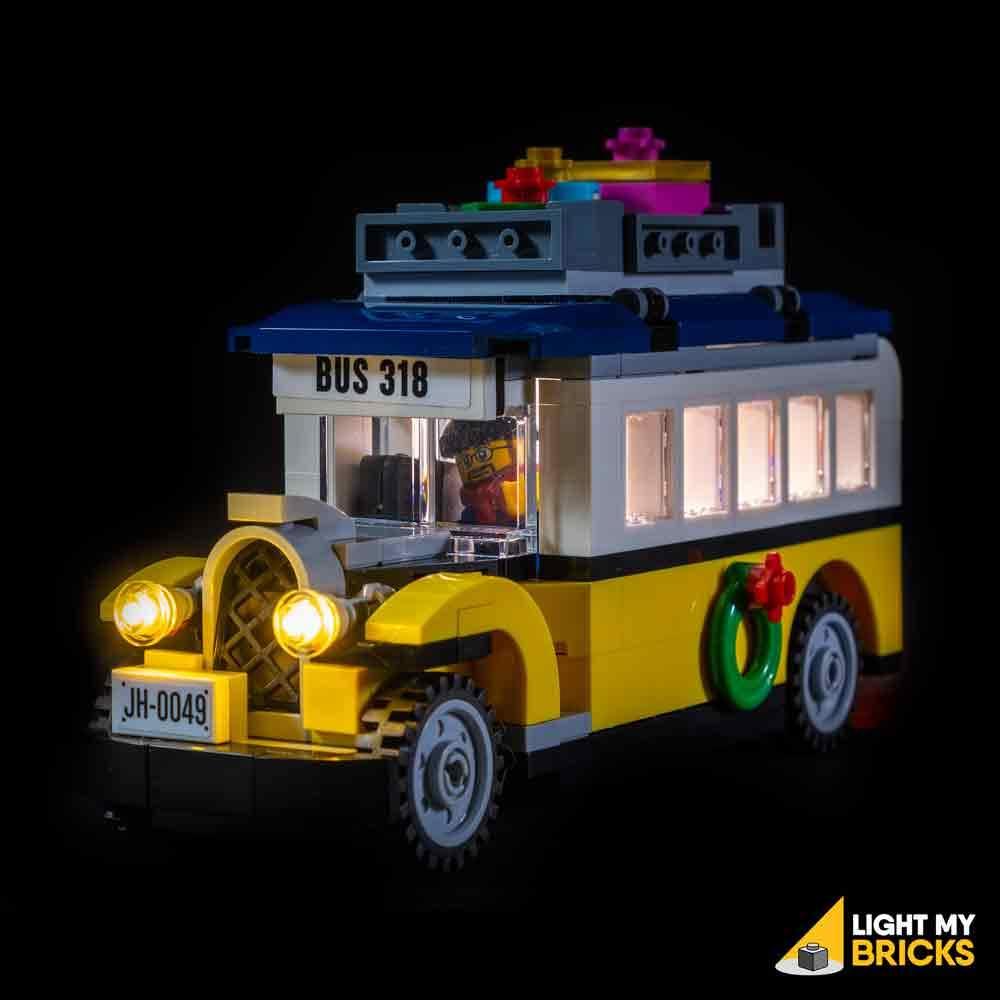 LEGO station village hiver 10259 Light my Bricks