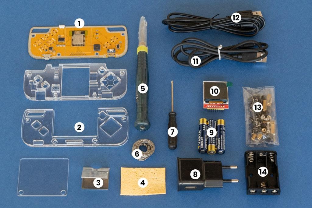 Nibble Console: box contents
