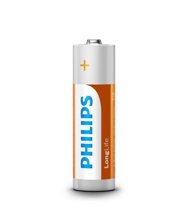 Lot de 4 piles AA Longlife Philips