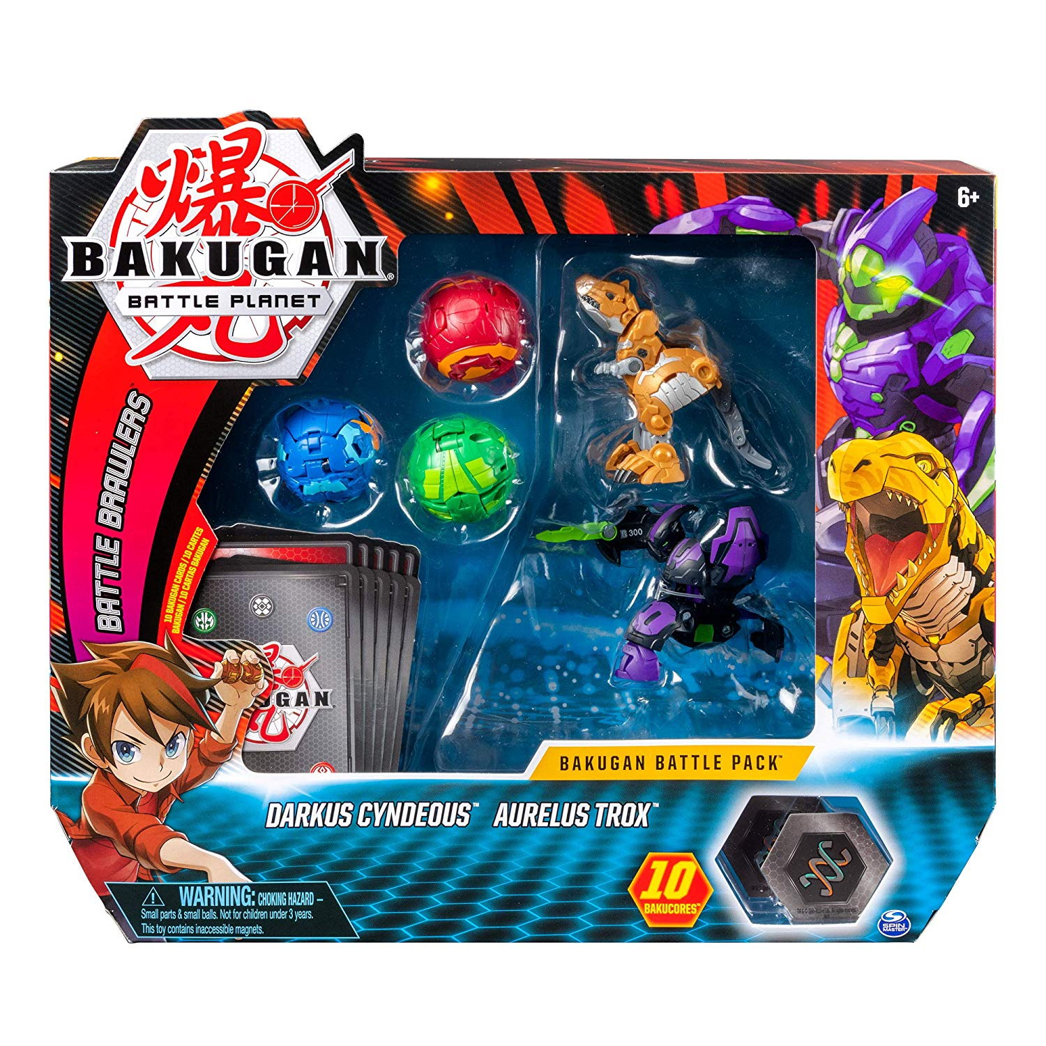 bakugan battle Darkus Cyndeous Aurelus Trox