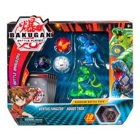 Bakugan battle pack Ventus Fangzor Aquos Trox