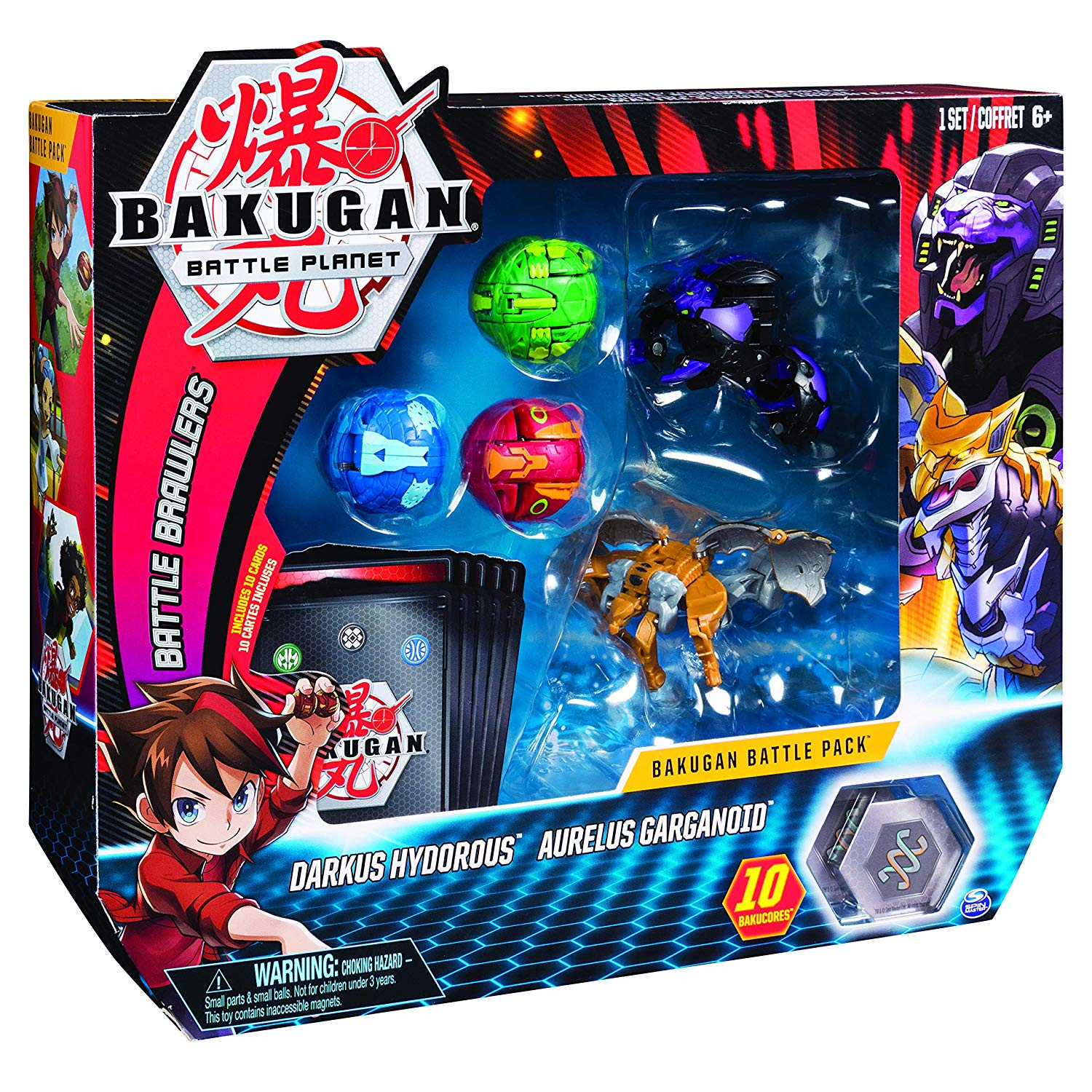 Bakugan Battle Pack Darkus Hydorous Aurelus Garganoid