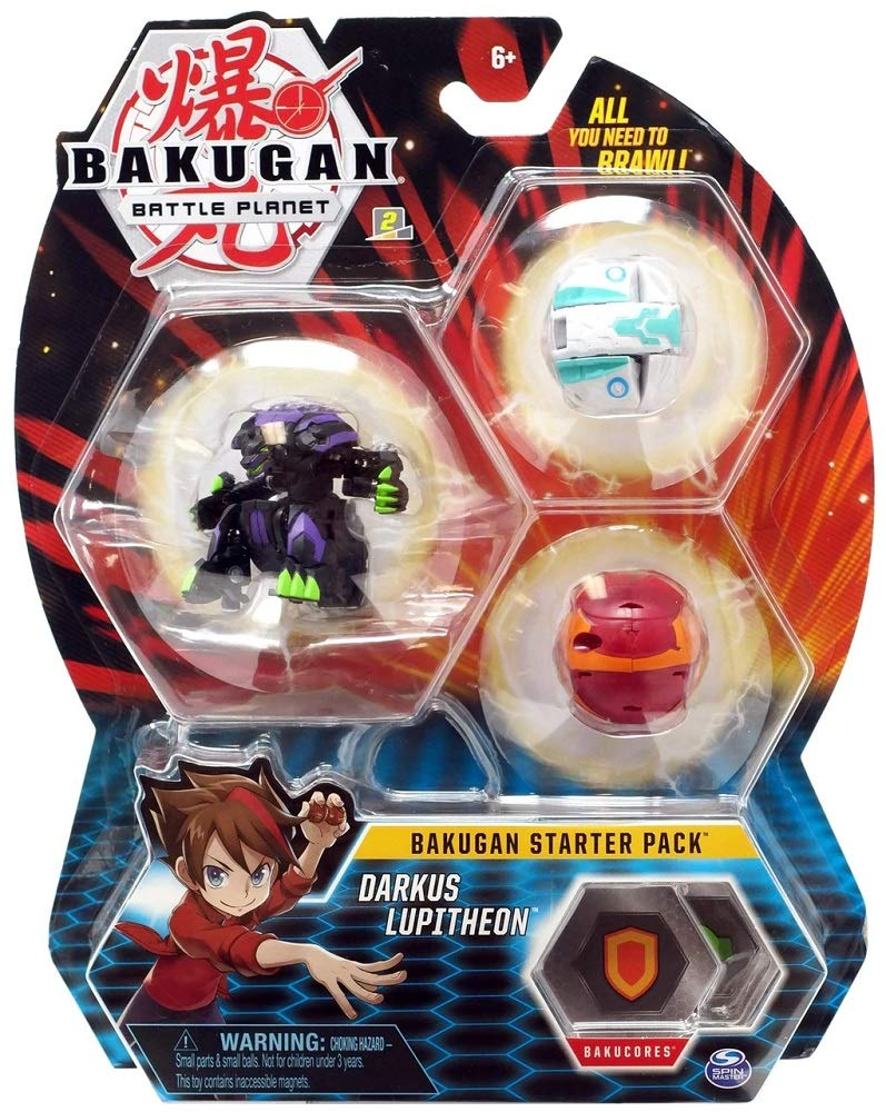 Bakugan starter pack Darkus Lupitheon