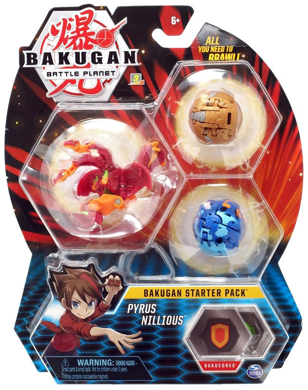 Bakugan starter pack Pyrus Nillious
