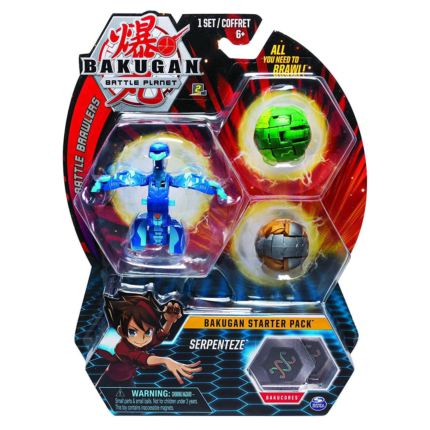bakugan starter pack serpenteze