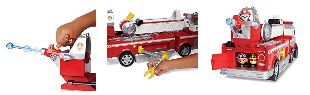 jouer avec le camion de pompier pat patrouille
