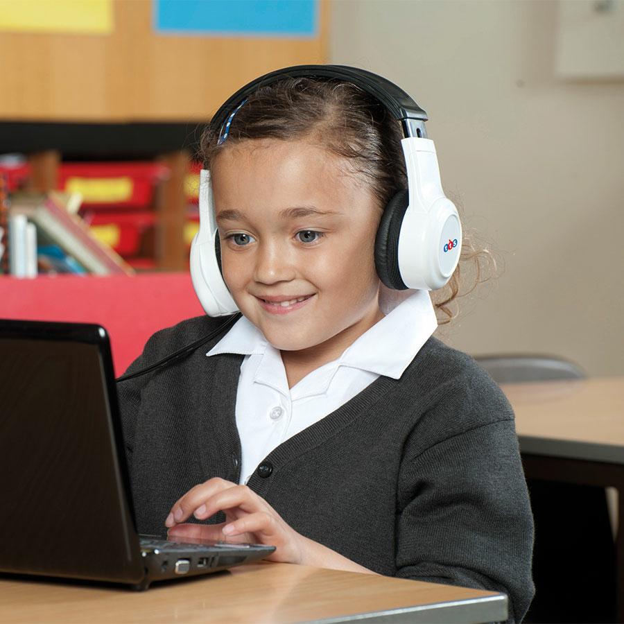 Casque audio USB avec microphone pour classe et école