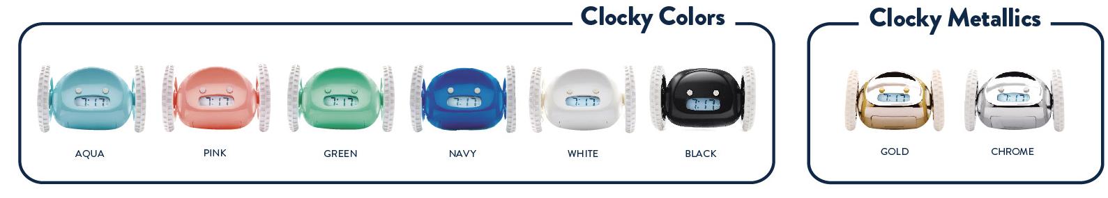 Clocky alarm clock colors