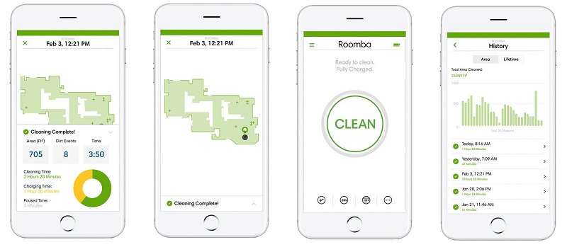 iRobot Home application Roomba