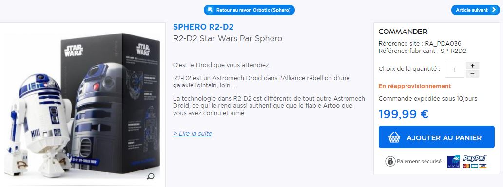 Sphero R2D2 Star Wars