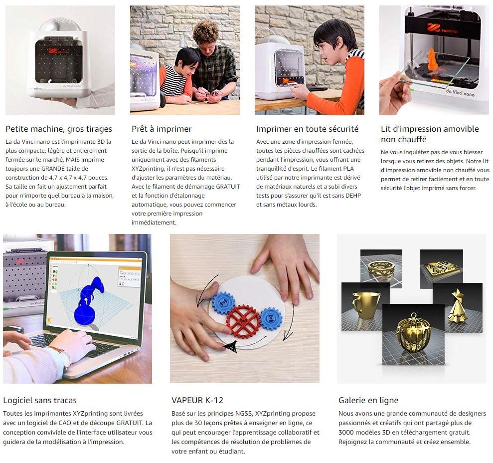 Imprimante 3D Da Vinci Nano XYZ Printing