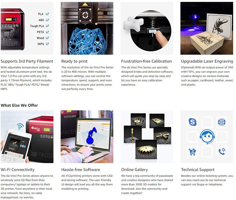 3D Printer Da Vinci Pro 1.0 XYZ Printing