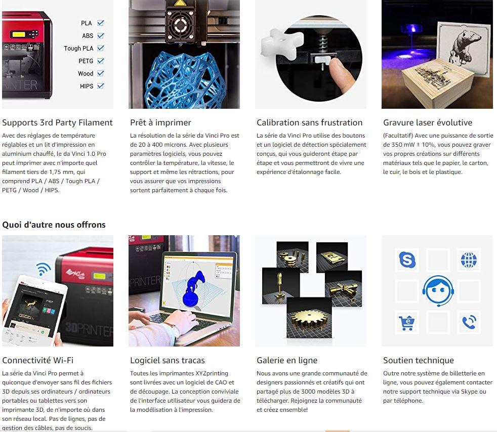 Imprimante 3D Da Vinci Pro 1.0 XYZ Printing