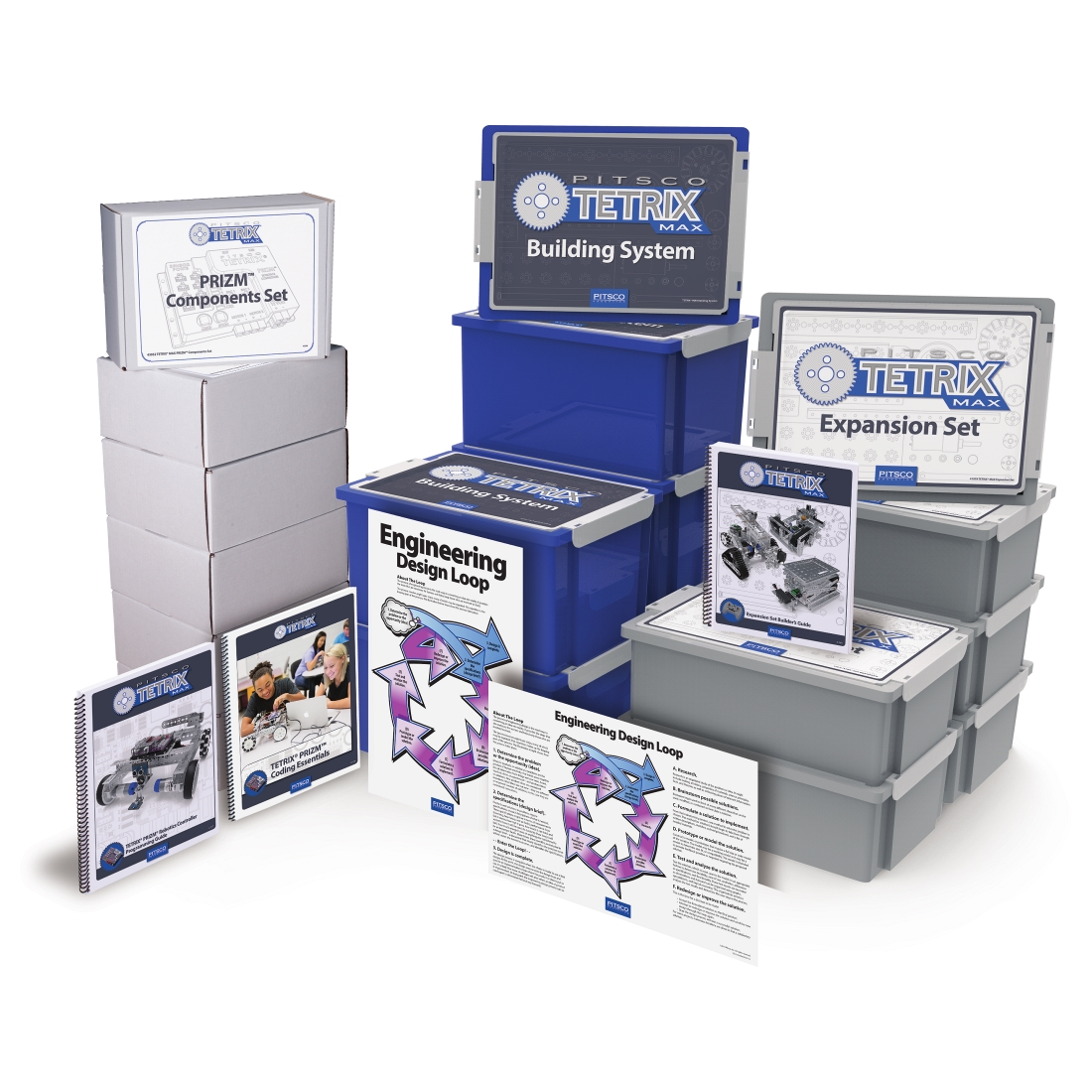 Un ensemble de tetris max robotiques programmables