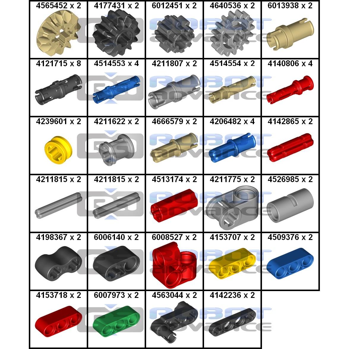 Mindstorms EV3 Education pièces détachées pack 1