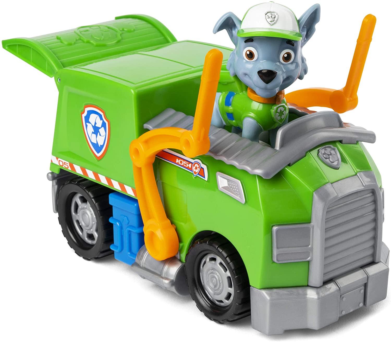 Rocky Paw Patrol figurine and truck