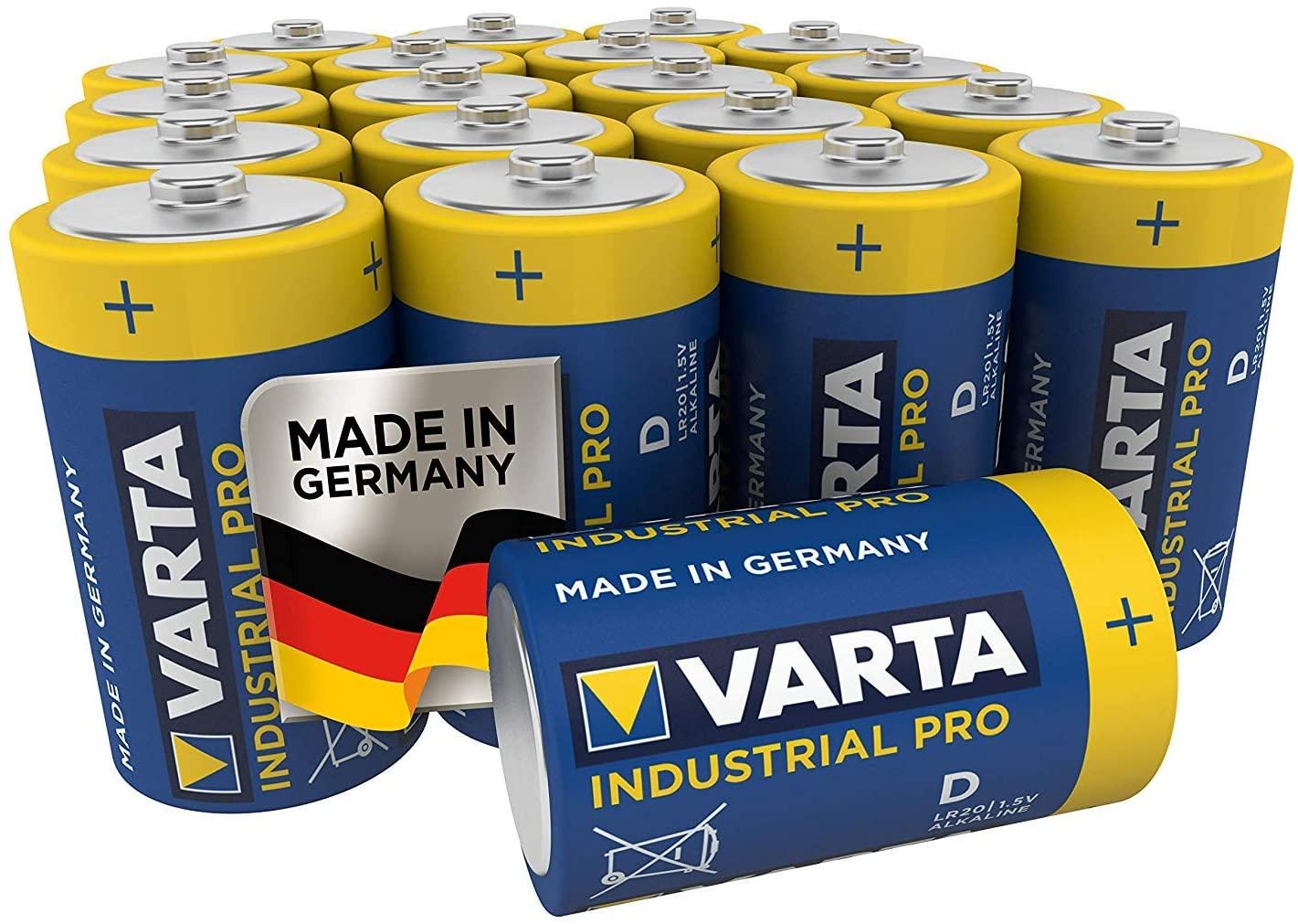 Varta LR20 batteries pack of 20