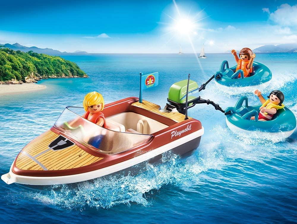 Jouet playmobil 70091 bateau bouées vacanciers