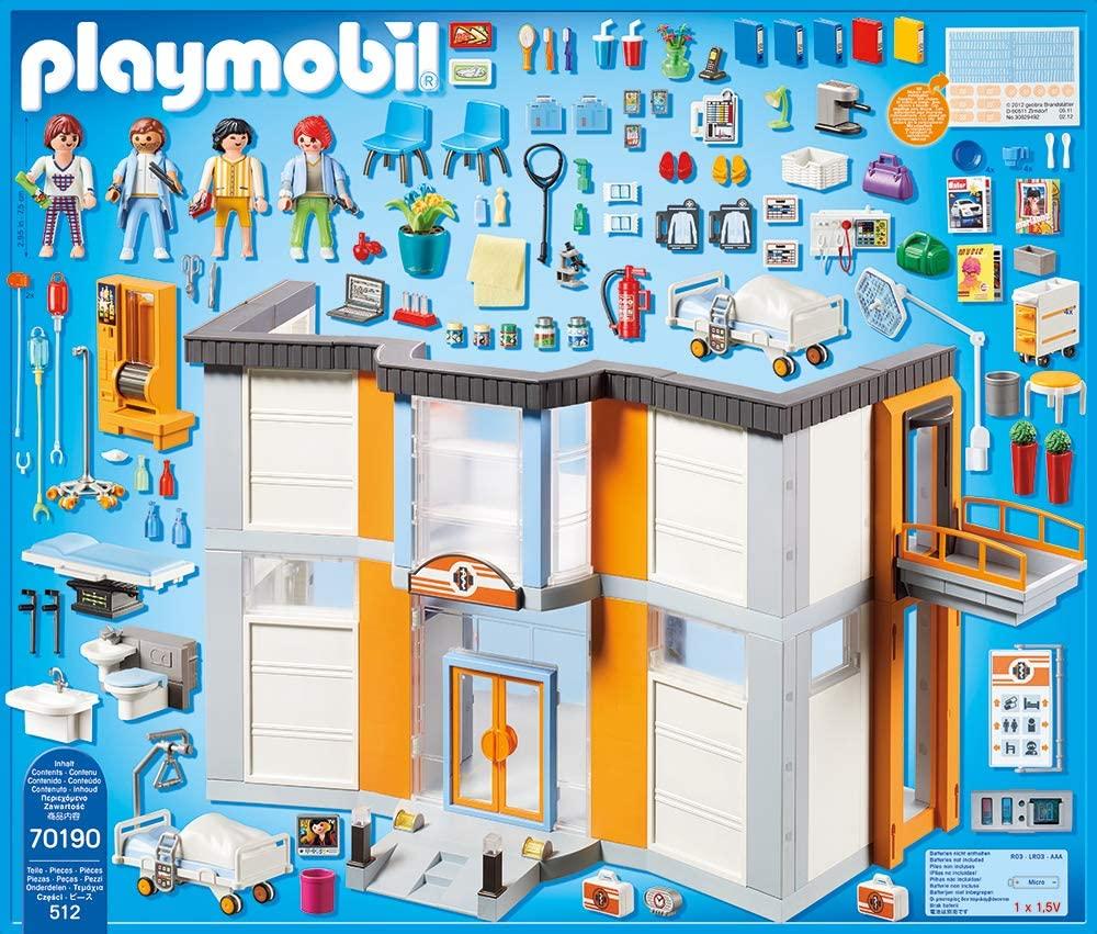 Grand Hopital Playmobil 70190 Contenu de la boîte