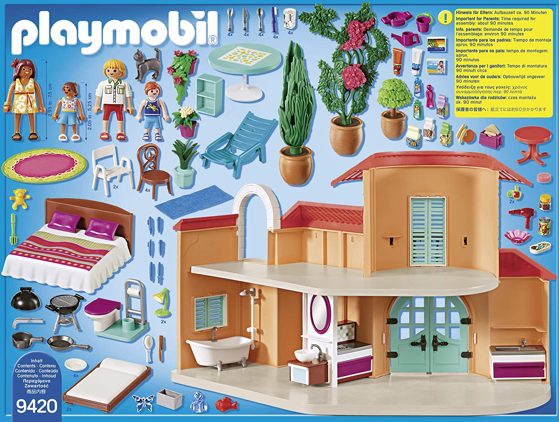 Villa de vacances Playmobil 9420 contenu de la boîte