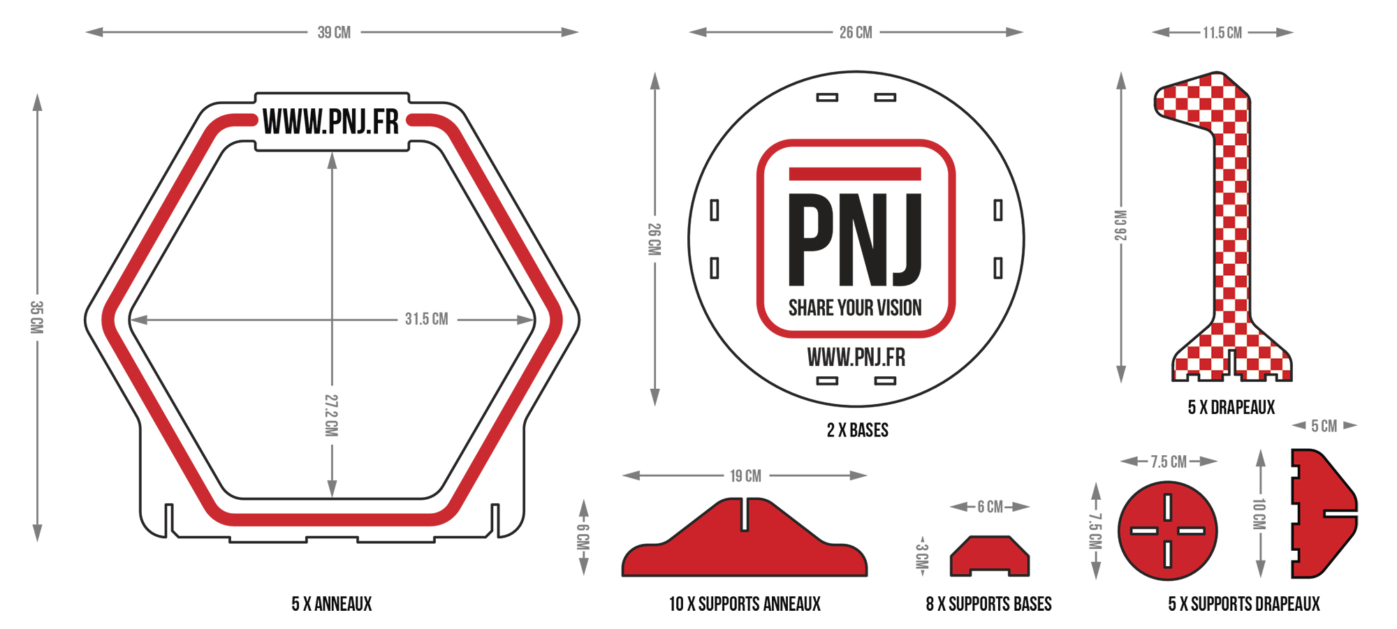 Racing Track PNJ Parcours obstacles drones