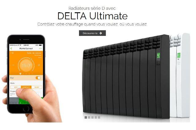 Radiateur connecté Delta Ultimate Rointe