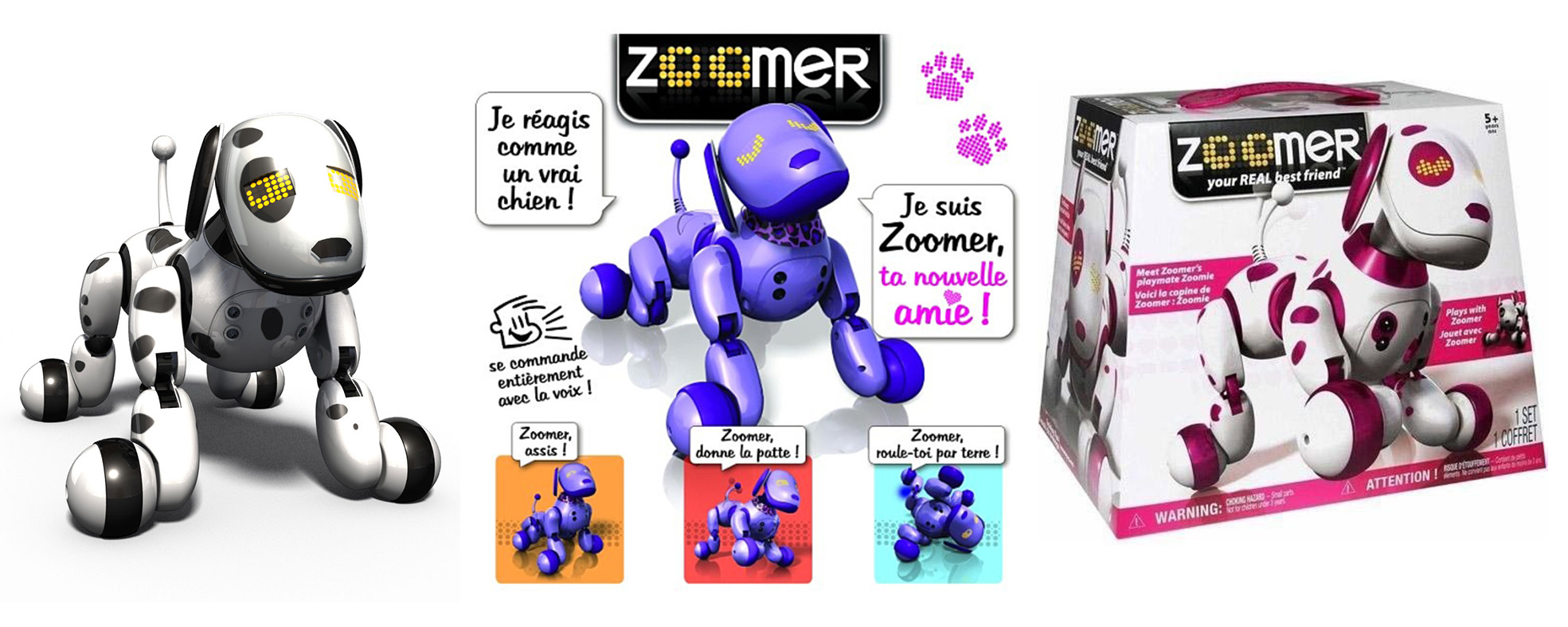 Les robots chiens Zoomer